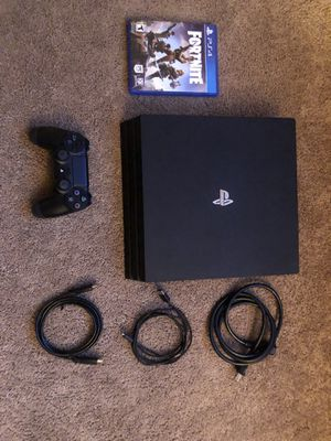 Ps4 Pro 1TB- fortnite (hard copy used)-1 controller for Sale in San Diego, CA