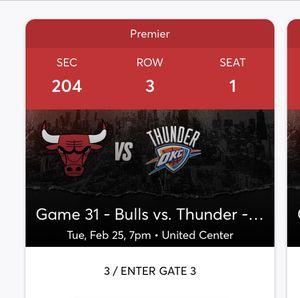 Bulls vs thunder for Sale in Chicago, IL