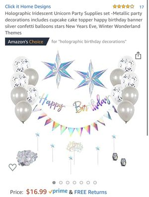 Holographic Frozen Ice Party Decor for Sale in Boiling Springs, SC