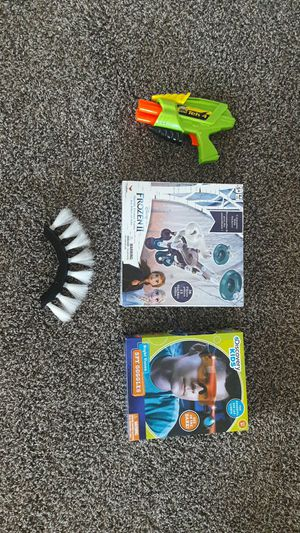 Frozen II board game & Night Vision Kids Googgles & Toy Gun for Sale in Fort Worth, TX