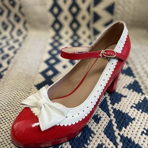 Retro Vintage Cosplay Red Pumps Ribbon Trims for Sale in Las Vegas, NV