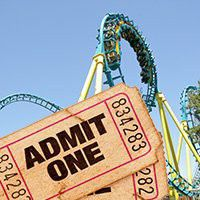 3 Six Flags Tickets for 30 dollars all together for Sale in UPR MARLBORO, MD
