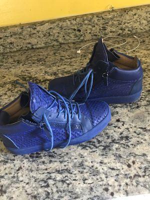 Guiseppe zanotti blue top sneakers for Sale in Herndon, VA