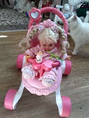 TODDLER DOLL AND MUSICAL STROLLER for Sale in Marietta, GA