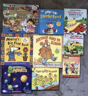 Lot Of 9 Children Board Book Lift-a-Flap Books for Sale in Alexandria, VA