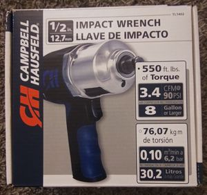 BRAND NEW. Campbell Hausfeld 1/2in Impact Wrench for Sale in Las Vegas, NV