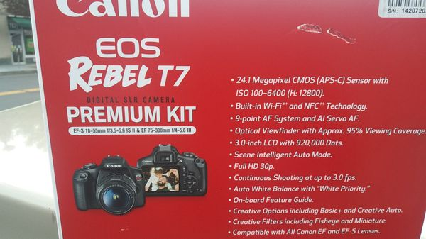 Brand new canon Eos rebel T7