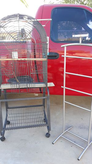 ☆LARGE BIRD CAGE & ROOST☆ for Sale in Sun City, AZ