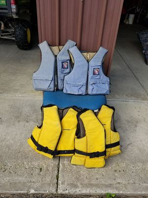 Boat life vests...adult size...all four included for Sale in Beaver Dams, NY
