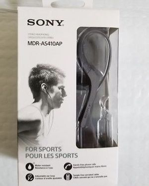 Sony Stereo Headphones with microphone- special ear design for Sale in Dallas, TX