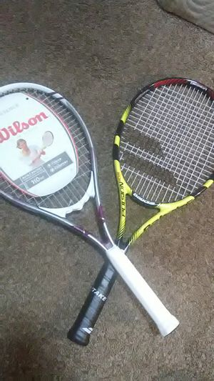 A Wilson 110in tennis racket and a pulsion 105 babolat tennis racket for Sale in Fresno, CA