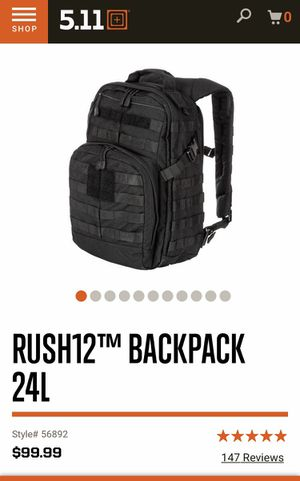 5.11 Rush 12 backpack for Sale in Hialeah Gardens, FL