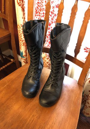 Ladies Stella Armada Motorcycle Boots Size 8.5 for Sale in Portage, IN