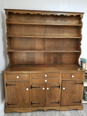 Handmade wooden hutch for Sale in Irvine, CA