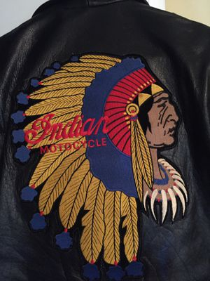 Vintage Leather Indian Motorcycle Jacket for Sale in Irving, TX