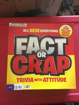 Board Game - Fact or Crap. Played once. for Sale in Portland, OR