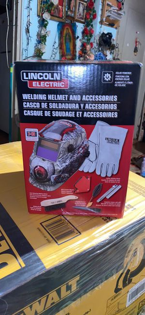 Lincoln Electric Auto Darkening Variable Shade Red Welding Helmet for Sale in Takoma Park, MD