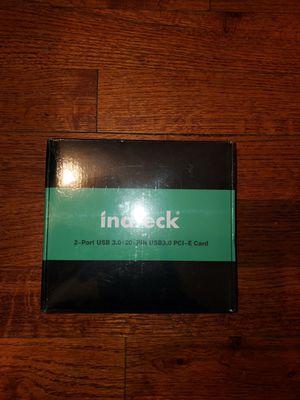 2-port usb pci - E card for Sale in Fresno, CA