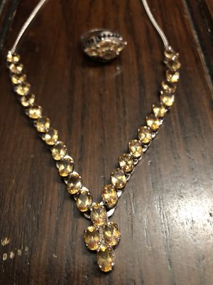 Topaz necklace and matching ring for Sale in New Berlin, WI