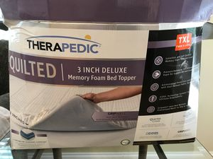 """Twin XL Therapedic 3"""" Deluxe Memory Foam Mattress Topper Make Any Bed Soft & Comfortable Perfect For Dorm Rooms for Sale in Wake Forest, NC"""