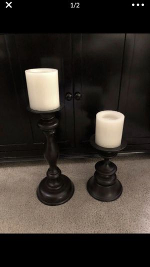 Pottery Barn Turned wood candleholders for Sale in Everett, WA