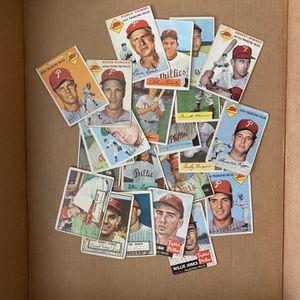 22 - 1952 1953 & 1954 Bowman Philadelphia Phillies Baseball cards Inc Richie Ashburn Robin Robert's Smokey Burgess for Sale in Brea, CA