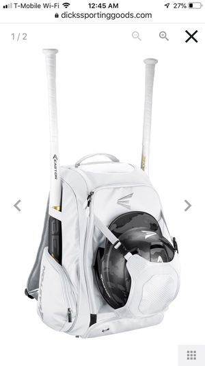 Easton Walkoff IV Bat Bag Backpack White Baseball for Sale in Bothell, WA