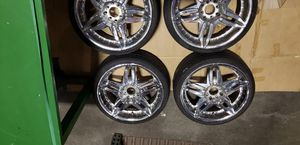 18 inch chrome rims with tires for Sale in Saint Cloud, FL