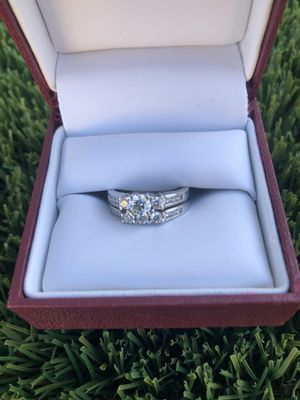 18KW 1TCW wedding ring and band for Sale in Peoria, AZ