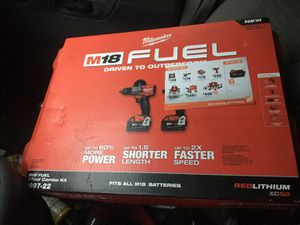 Milwaukee 2 tool combo kit for Sale in Pawtucket, RI