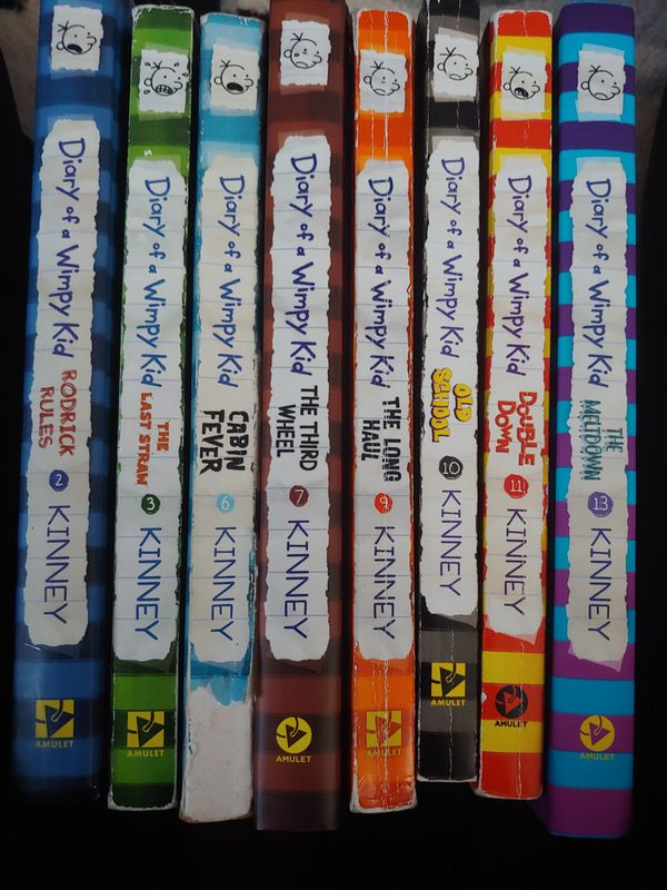 Diary of a Wimpy Kid lot of 8