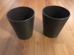 Flower pots. Small. Black pattern. 2 for $6. for Sale in Los Angeles, CA