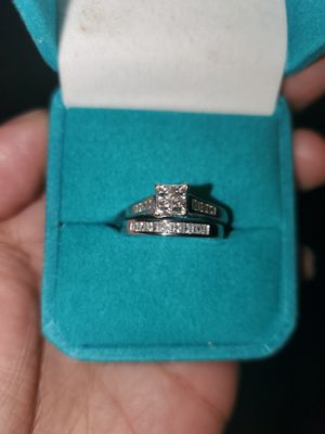 1/3 carat 14k white gold engagement and wedding band. for Sale in Chandler, AZ
