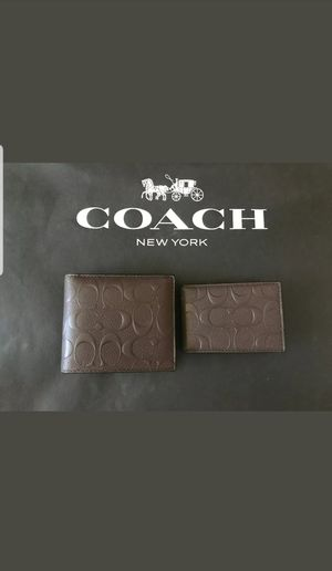 AUTHENTIC COACH MEN WALLET NEW WITH TAG AND GIFT BOX for Sale in Santa Ana, CA