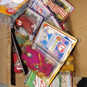 2 Boxes Of Different Team is beanie Babys And Some Beanie Babys, From TY for Sale in Fullerton, CA