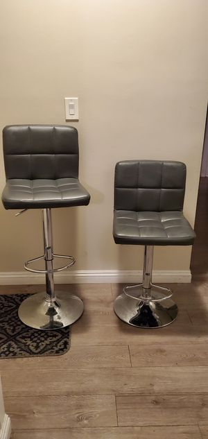 """Slightly used $30 each barstool bar counter height adjustable 24"""" to 33"""" high chair stool kitchen counter furniture for Sale in Duarte, CA"""