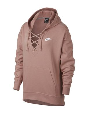 Nike Lace Up Hoodie - Rust Pink/White M for Sale in Fort Worth, TX