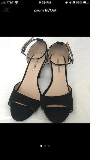 Black strap velvet heels for Sale in San Diego, CA