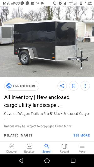 Enclosed trailer 5 by 8 for Sale in Houston, TX