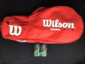 Wilson Tour. Tennis/Racketball Racquet. Backpack Bag. Comes with 4 brand new racquet balls for Sale in Elgin, IL