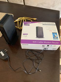 N300 WiFi Cable Modem Router for Sale in Riverside,  CA