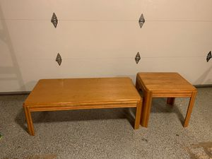 Coffee table and end table for Sale in Granite Falls, WA