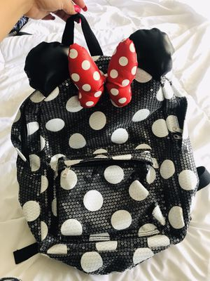 Minnie Mouse sequin backpack - used for Sale in Chino Hills, CA