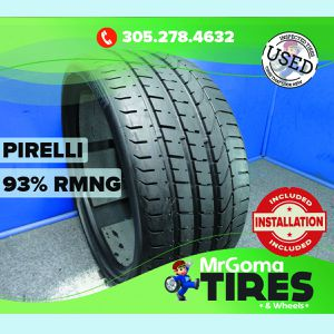 1 PIRELLI PZERO TM RO1 XL 285/30/21 USED TIRE 93% RMNG NO PATCH P ZERO 2853021 for Sale in Miami, FL