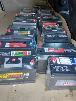 New car batteries all sizes different brands start at$50 with core exchange for Sale in Los Angeles, CA