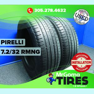2 PIRELLI SCORPION VERDE A/S MOE RFT 235/55/19 USED TIRES 7.2/32 RMNG 2355519 for Sale in Miami, FL