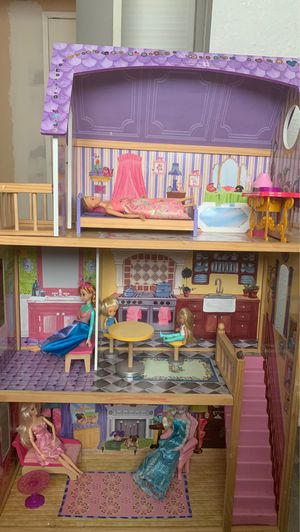 Barbe house with dolls and accessories for Sale in Concord, CA