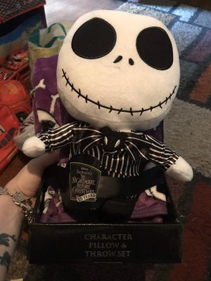 Nightmare before Christmas pillow and blanket set for Sale in San Antonio, TX