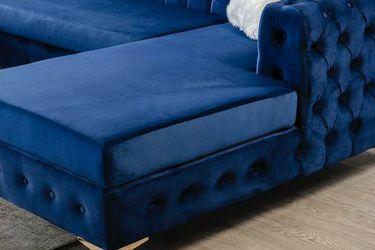 ***Lydia Velvet Navy Double Chaise Sectional *** for Sale in Houston,  TX