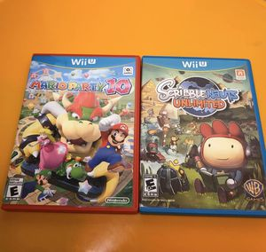 Wii U mario party 10 scribblenauts for Sale in Spring Hill, TN